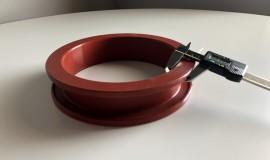 Guarniz in silicone rosso